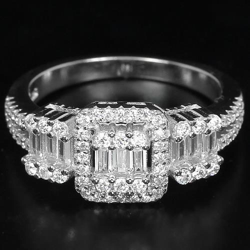 טבעת כסף משובצת זרקונים RG5191   תכשיטי כסף   טבעות כסף