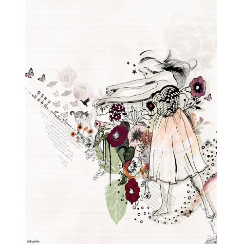 ציור של רקדנית