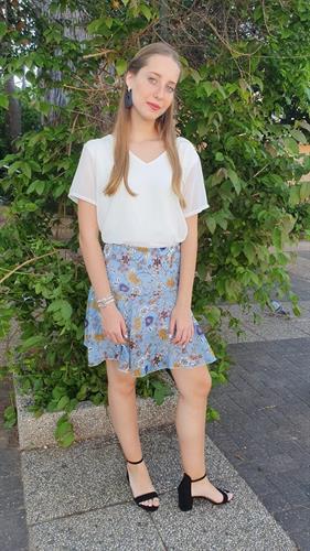 חצאית שיפון מיני