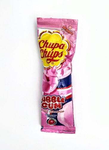Chupa Chups Bubble Lollipop Strawberry
