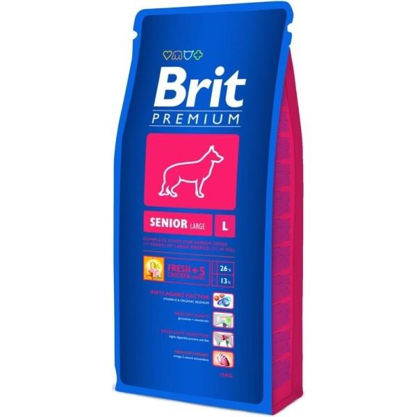 """של בריט כלב למבוגר מגזע גדול עוף ואורז 15 ק""""ג"""