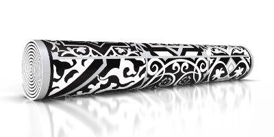 ראנר מבודד חום אקלקטי שחור לבן  TIVA DESIGN