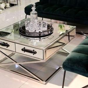 שולחן סלון מרובע רסיטל רגליים נירוסטה מפתח הפריט: 195389 מידות: 80X80X45