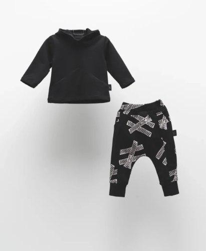 חליפת קפוצון מכנס מודפס