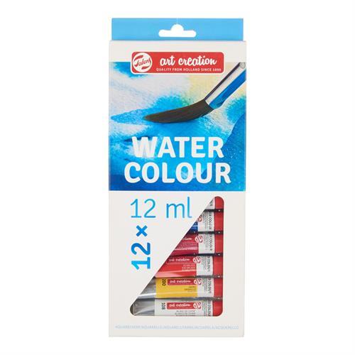 סט צבעי מים בשפ' 12 מל' - 12 גוונים TALENS