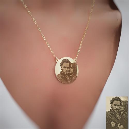 שרשרת מטבע גולדפילד / כסף 925 חריטת תמונה