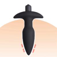 פלאג אנאלי לחדירה חלקה מסליקון איכותי לחדירה קלה , כמה סוגי רטט בלחיצת .