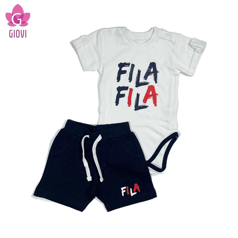 סט בגד גוף מכנס קצר תינוקות