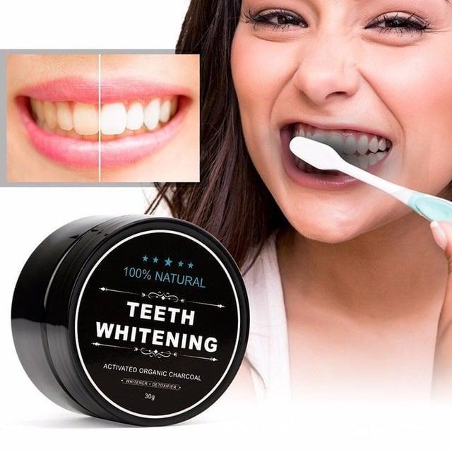 אבקת במבוק להלבנת השיניים