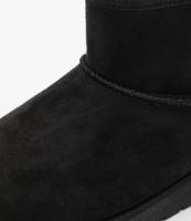 מגף פרווה שחור קצר  LEVIS לוגו אדום מאחורה - 28-35