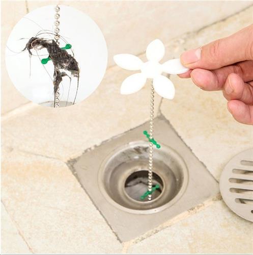 שרשרת הפרח - לוכדת שיערות ומונעת סתימות במקלחת