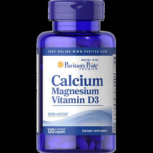 -- סידן ומגנזיום בתוספת ויטמין D3 -- מכיל 120 טבליות
