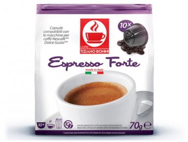 16 קפסולות קפה בוניני FORTE תואם דולצ'ה גוסטו - חוזק 10