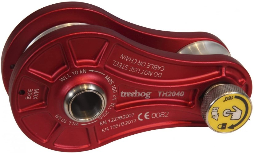 גלגלת TREEHOG להורדת משקלים 100 kn תקן EN12278 אדום