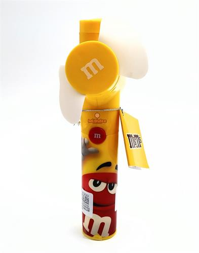 מאוורר M&M מעוצב עם עדשי שוקולד