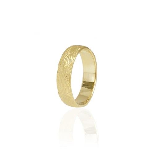"""טבעת טביעת אצבע זהב לנישואין 5.0 מ""""מ"""