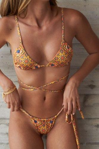 בגד ים ברזילאי MUMBAI טופ קלאסית תחתון וילון