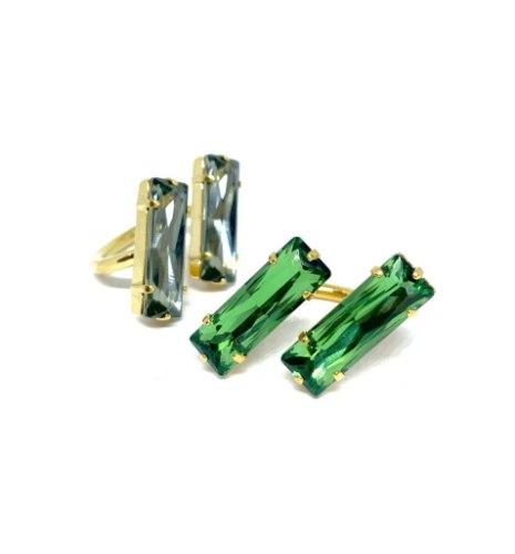 טבעת מלבנים אופסייד זהב