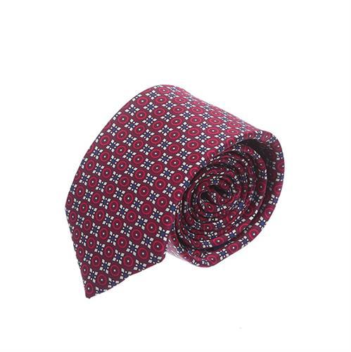 עניבה עיגולים בורדו