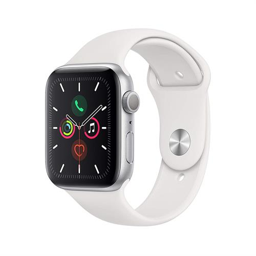 Apple Watch Series 5 GPS, 44mm Silver Aluminium Case with pink Sport Band