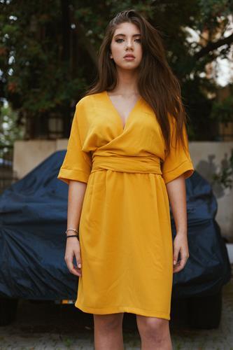 שמלת לולה חרדל