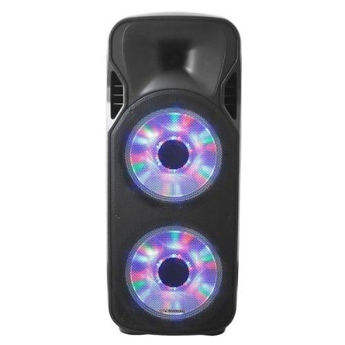 רמקול בידורית קריוקי נייד דאבל 12 אינטש חזק ועוצמתי עם תאורת דיסקו Pure Acoustics דגם ZX-1212