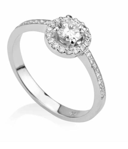 טבעת אבן עגולה דגם POP