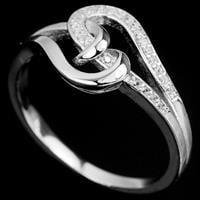 טבעת כסף משובצת זרקונים RG4023 | תכשיטי כסף | טבעות כסף
