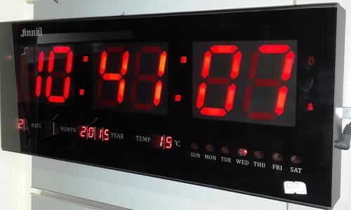 שעון קיר דיגיטלי LED חשמלי GOLF 7526+שלט