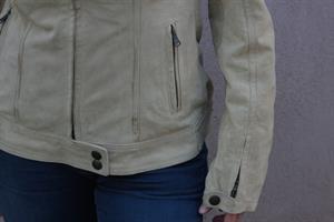 מעיל עור הפוך וינטג' צבע אבן של דוקאטי מידה S/M