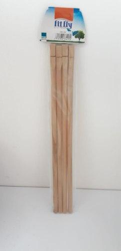 """מקל עמידה מעץ אורך 40 ס""""מ 4 יח' במארז"""