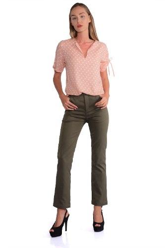 מכנס קמיל זית