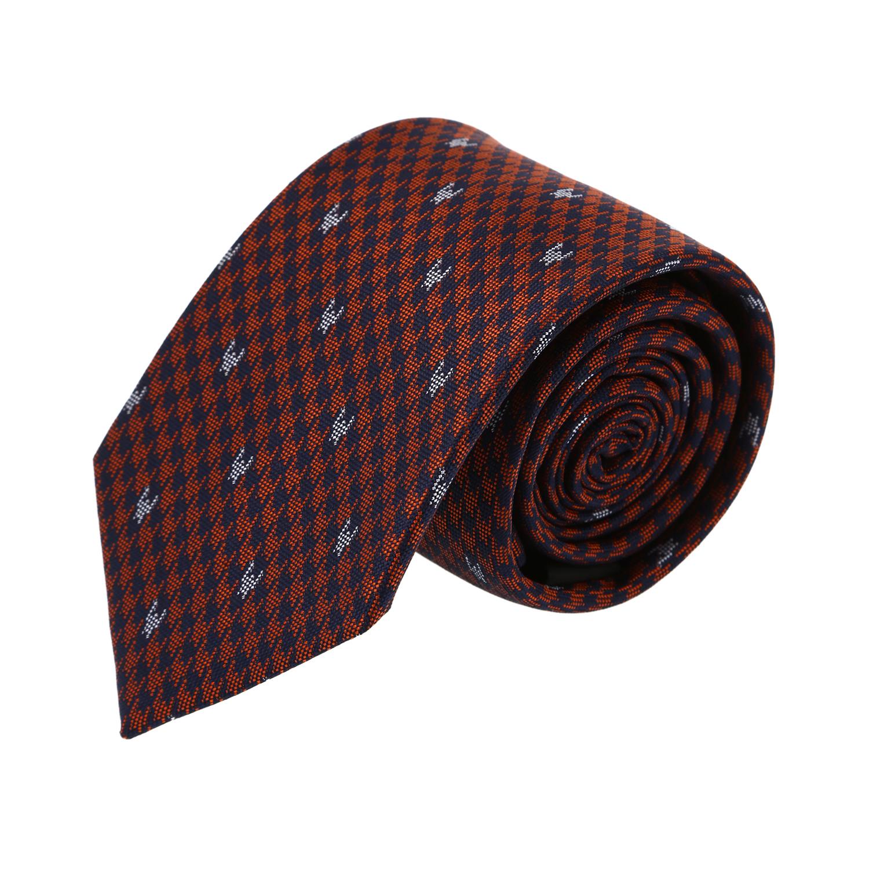 עניבה דגם פפיתה כתום כחול