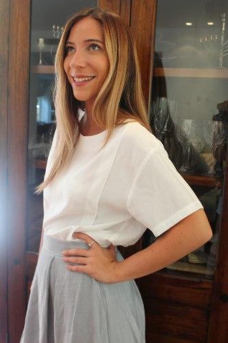 חולצת משי לבנה