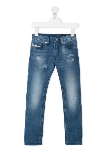 ג׳ינס עם קרעים כחול בהיר DIESEL בנים - 4-16 שנים
