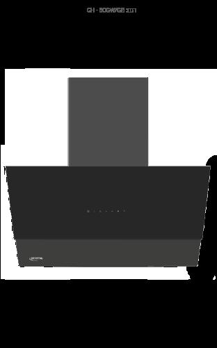 """קולט אדים קריסטל CH60GB זכוכית שחור 60 ס""""מ"""