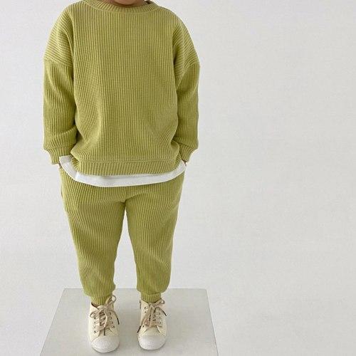 חליפת וופל ארוכה במגוון צבעים-יוניסקס