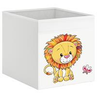 קופסת אחסון לכוורת עם הדפס-אריה