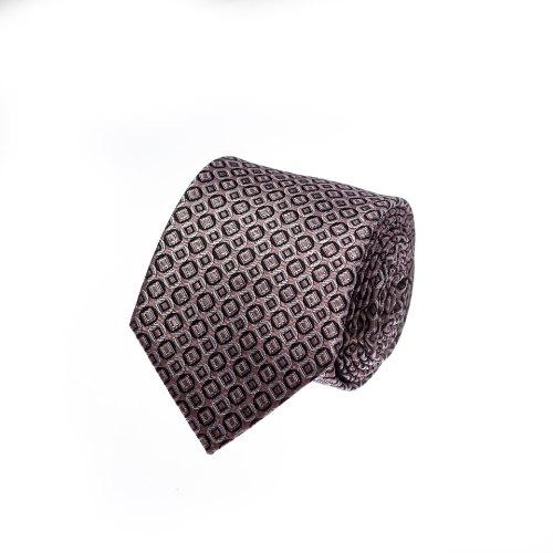 עניבה מעוינים ורוד עתיק שחור