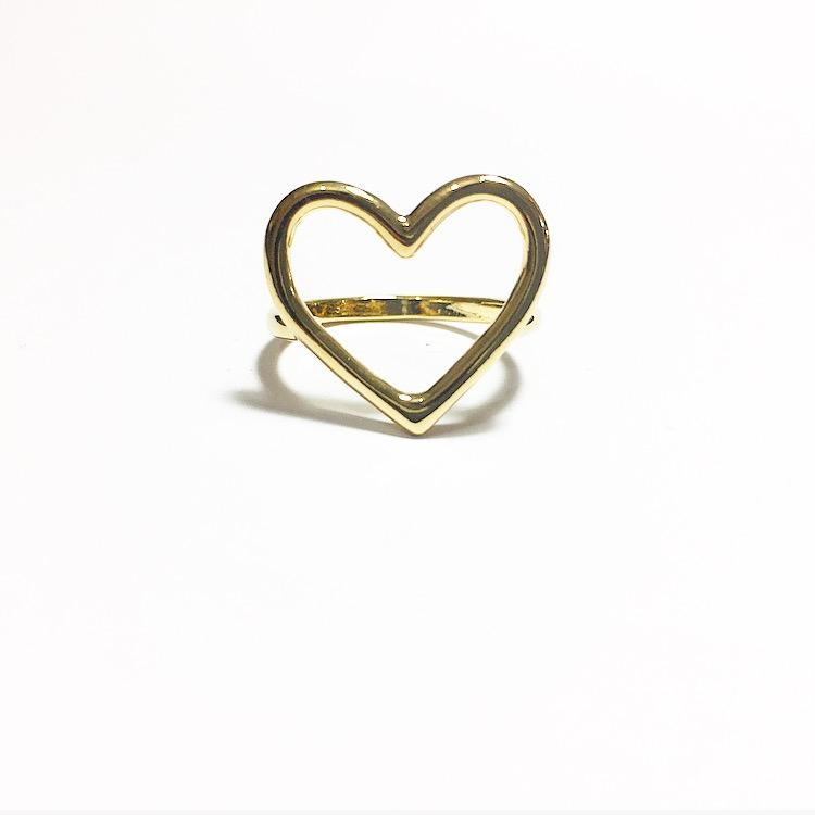 Heart golden ring