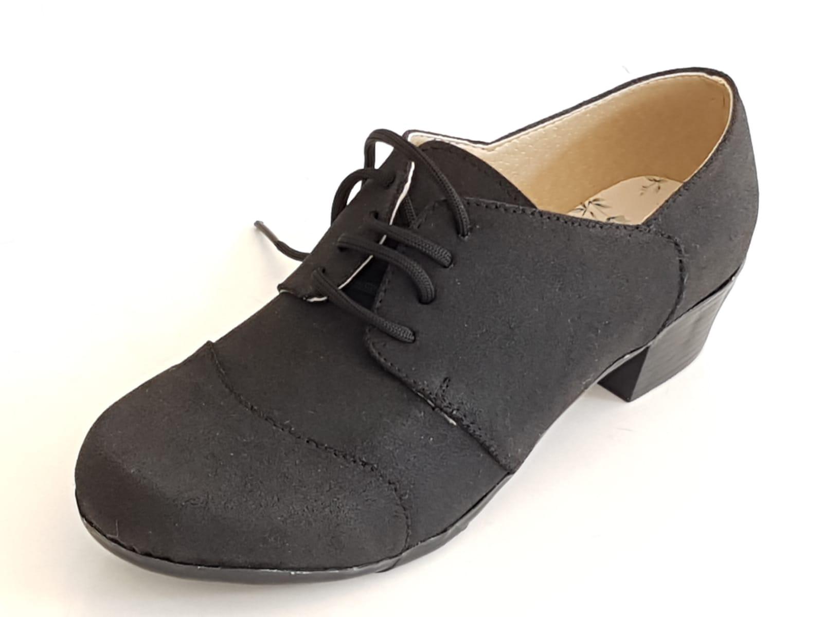נעל שרוך תפר דמוי זמש