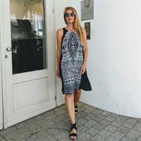 שמלת שיר קצרה - ETHNIC