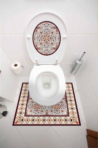 עיצוב איזור האסלה – מדבקה (39 ₪) שטיחון (88 ₪) סט (119 ₪) קינמון TIVA DESIGN