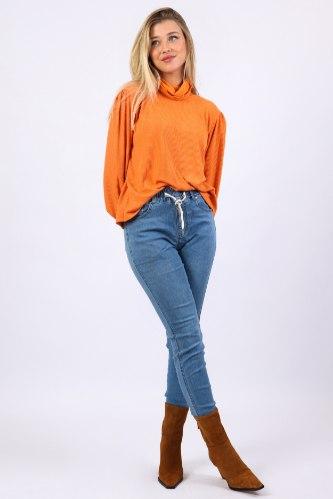 מכנס גינס שחור/כחול