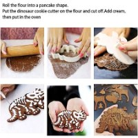 שבלונות מיוחדות להכנת עוגיות בצורת דינוזאורים