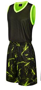 תלבושת כדורסל בעיצוב אישי Black דגם #6011