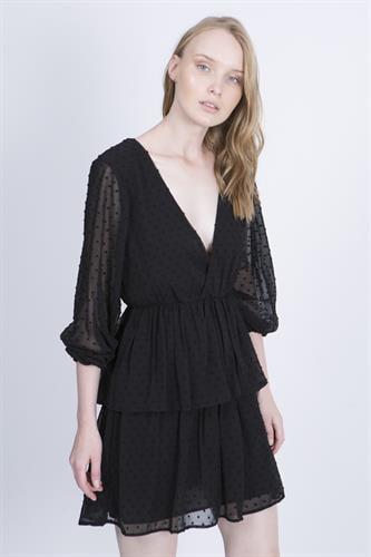 שמלת מורגן שחורה