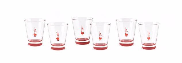 סט 6 כוסות לאספרסו מזכוכית, BIALETTI