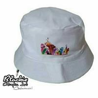 """כובע """"צבאי"""" לבן הדפס גראפי """"Mushroom"""""""