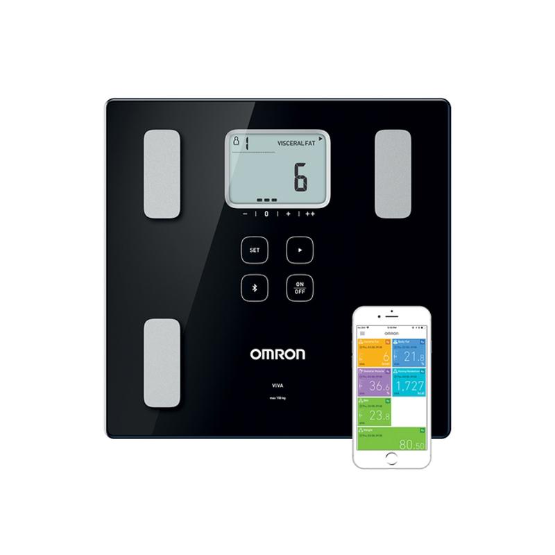 משקל אדם חכם עם מד הרכב גוף Omron Viva